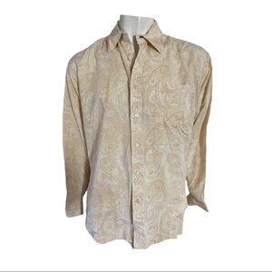 Tommy Hilfiger Linen/Cotton Paisley Print Shirt L